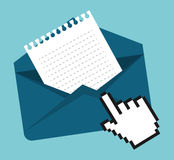 Email marketing design. Email marketing  design over blue background, vector illustration Royalty Free Stock Photography