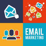 Email marketing design. Stock Photo