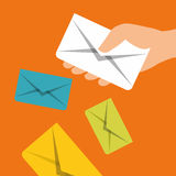 Email marketing design. Royalty Free Stock Images