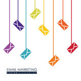 Email marketing design. Royalty Free Stock Photo