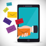 Email marketing design. Royalty Free Stock Photos