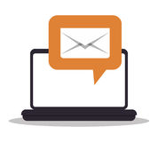 Email marketing design. Stock Image