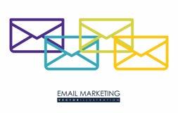 Email marketing design. Email marketing  design over white background, vector illustration Stock Photography