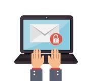 Email marketing design, vector illustration. Stock Images