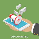 Email Marketing Flat Isometric Vector Concept. Royalty Free Stock Image