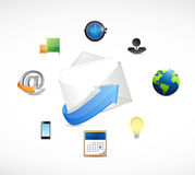 Email marketing icons illustration design Stock Photos