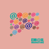Email marketing  illustration Stock Images