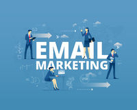 Email marketing typographic poster Royalty Free Stock Photo