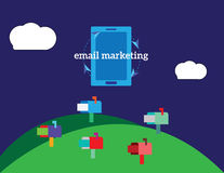 Email marketing vector concept illustration Royalty Free Stock Images