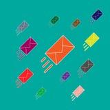 Email marketing vector illustration. Flat style Stock Image