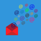 Email marketing vector illustration. Flat style Royalty Free Stock Photos