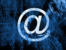 Email Mess Background Royalty Free Stock Photography