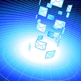 Email message background with binary code Royalty Free Stock Photos