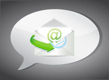 Email message concept illustration design Royalty Free Stock Images