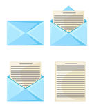 Email message concept. New, incoming message Vector illustration in flat style design Isolated on white background. Email message concept. New, incoming message Royalty Free Stock Images