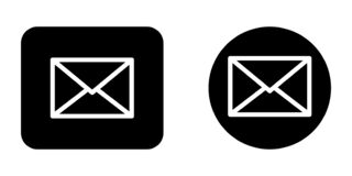 Free Email Message Envelope Icon Set Stock Images - 217424194