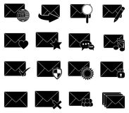 Email message icons set Stock Images