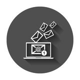 Email message on laptop. Stock Image