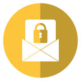 Email message security system technology shadow. Vector illustration eps 10 Royalty Free Stock Photo
