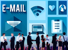 Email Message Send Connection Communication Concept Royalty Free Stock Images