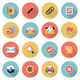 Email modern flat color icons. Royalty Free Stock Photos