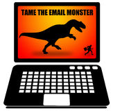 Email monster Royalty Free Stock Photography