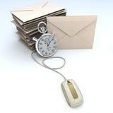 email naglący Fotografia Stock