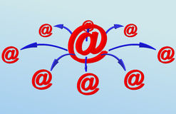 Email network Stock Image