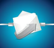 Email network connection illustration design Royalty Free Stock Photos