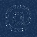 Email network symbol. Actual constellation style symbol. Favorable network style. Modern design. Email symbol for infographics or presentation vector illustration