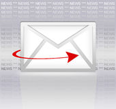 Email newsletter Royalty Free Stock Photo