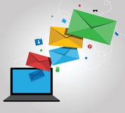 Email Newsletter Design Stock Photos