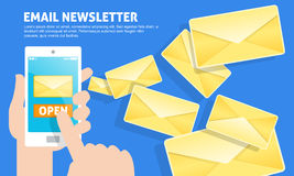 Email newsletter Royalty Free Stock Images