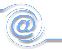 Email no branco Imagens de Stock Royalty Free