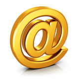 Email no símbolo isolado no fundo branco Fotografia de Stock Royalty Free