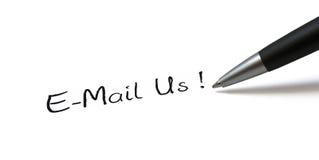 Email nosotros Fotografía de archivo