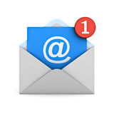 Email notification one new email message in the inbox concept Royalty Free Stock Photography