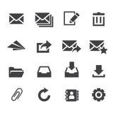 email odkrywa ikony poczta otwartego dostawanie Obrazy Royalty Free