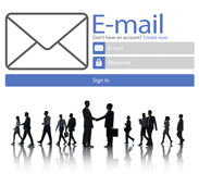 Email Online Messaging Social Media Internet Concept Stock Photo