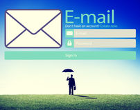 Email Online Messaging Social Media Internet Concept Stock Images