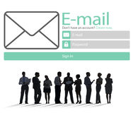 Email Online Messaging Social Media Internet Concept Stock Image