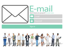 Email Online Messaging Social Media Internet Concept Royalty Free Stock Photos