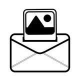Email online picture communication line. Illustration eps 10 Stock Image
