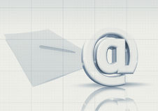 Email and paper document Stock Photo