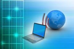 Email partageant entre le téléphone intelligent Image stock