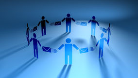 Free Email People Blue (HD Loop) Royalty Free Stock Photo - 43650245