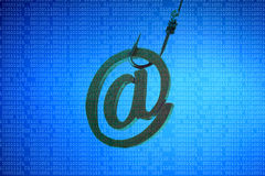 Email phishing attack Stock Photography