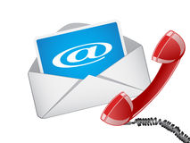 Email and phone ,vector Royalty Free Stock Images