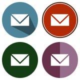 Email plat d'icônes Photos libres de droits