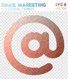 Email polygonal symbol. Actual mosaic style symbol. likable low poly style. Modern design. email icon for infographics or presentation vector illustration